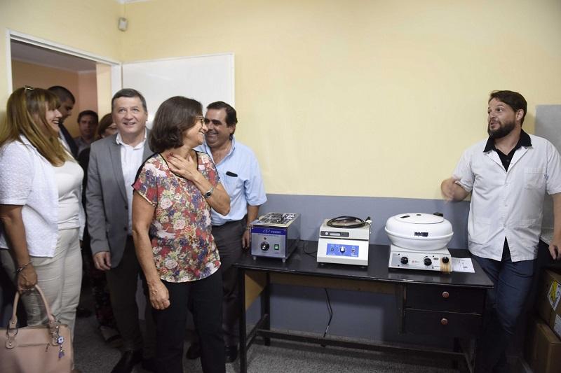 Lucía habilitó un nuevo laboratorio y refacciones en el centro de salud de Villa Cubas