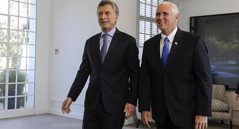 Luego de la cancelación de Trump, Macri se reunirá en Perú con su vice Mike Pence