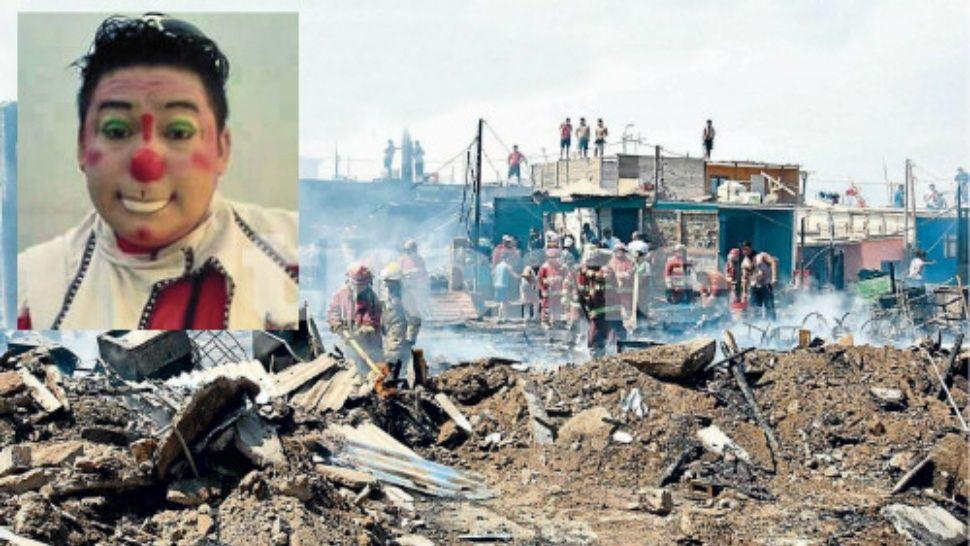 Payaso salvó la vida de varios niños en un voraz incendio