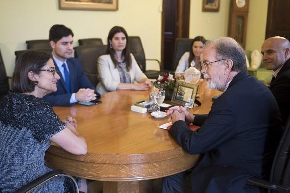 Lucía recibió al Presidente del Banco Nación