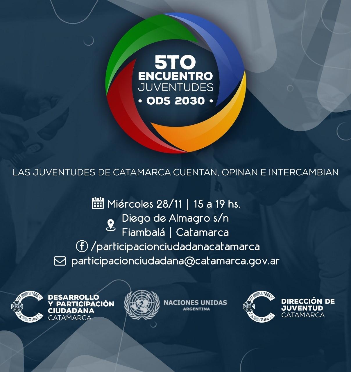 """En Fiambalá se realizará el 5° encuentro de """"Juventudes de Catamarca 2030"""""""