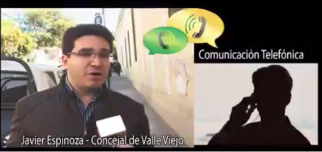Espinoso audio manda al frente a concejales de Valle Viejo