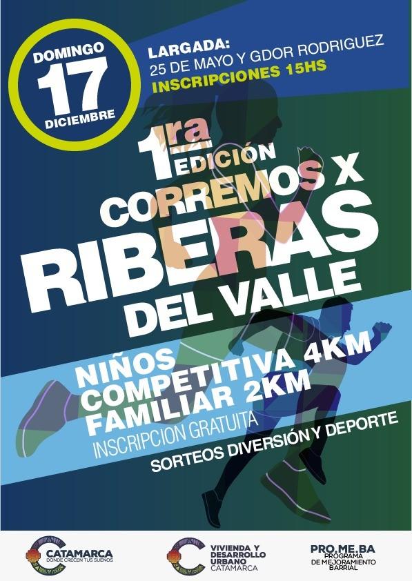 """Se viene la primera edición de """"Corremos por Riberas del Valle"""""""