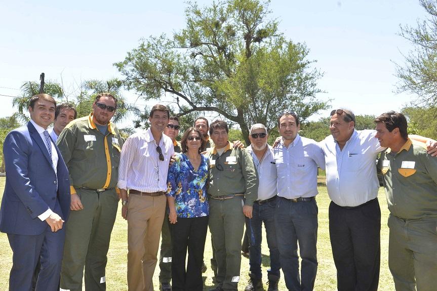 Lucía inauguró obras en La Merced y Bañado de Ovanta