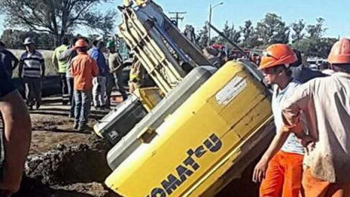 Santiagueño falleció asfixiado al quedar sepultado en una zanja