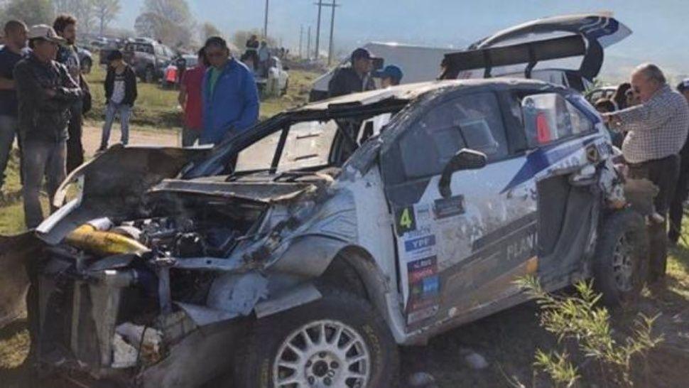 Nalbandian volcó en la segunda fecha del Rally en Tafí del Valle y se salvo de milagro