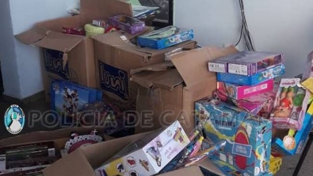 Incautan gran cantidad de juguetes en El Portezuelo