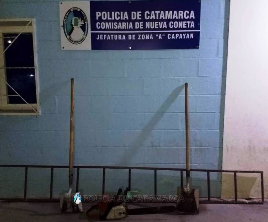 Arrestan a un joven y recuperan varias herramientas.