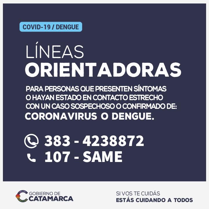 El COE Catamarca informa