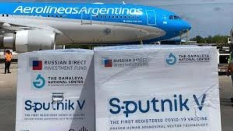 Llegaron al país las 300 mil unidades de la segunda dosis de la vacuna rusa