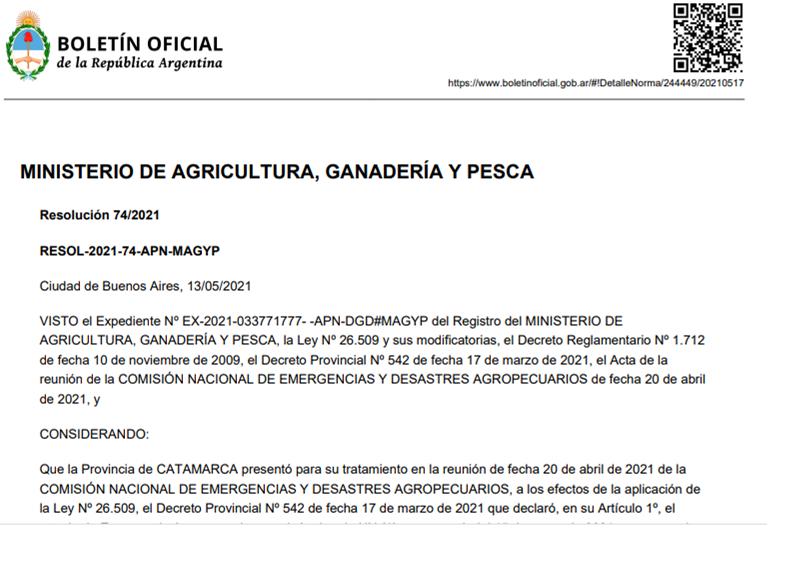 Declararon la Emergencia Agropecuaria para el sector olivícola catamarqueño