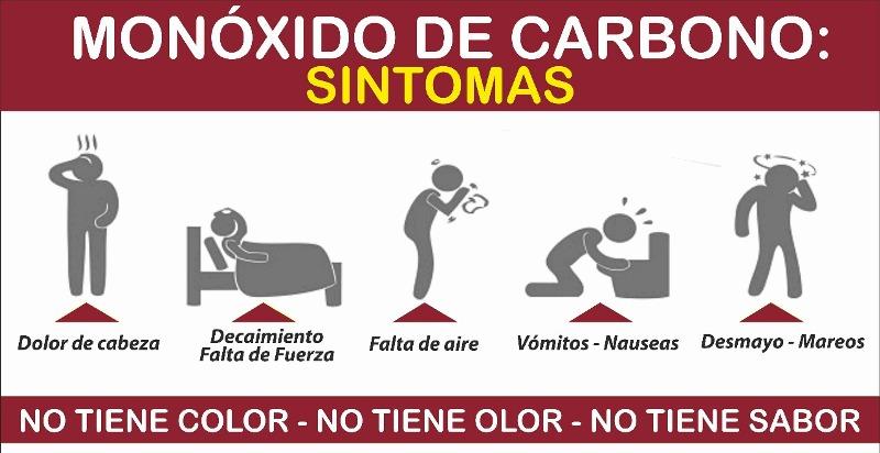 Prevención de intoxicación con monóxido de carbono