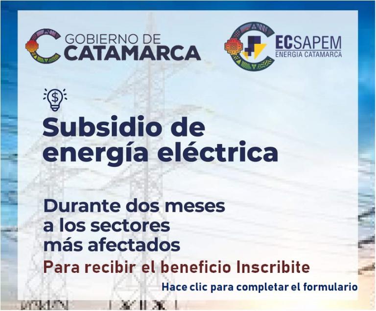 Subsidian el 100% de la tarifa eléctrica : A quiénes corresponde y cómo inscribirse