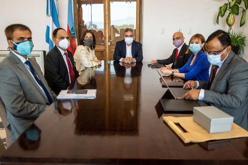 Raúl y Lucía recibieron al Embajador de India por inversión en proyecto minero
