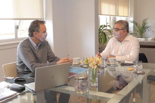 Raúl y el ministro Katopodis dialogaron sobre el avance de obras en Catamarca